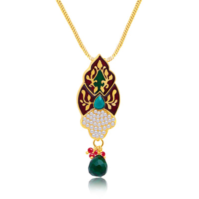 Sukkhi Astonish Gold Plated Pendant Set For Women-1