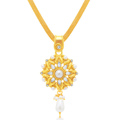 Sukkhi Finely Gold Plated Pendant Set For Women-1