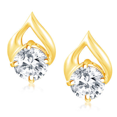 Pissara Stunning Gold Plated Solitare Pendant Set For Women-2
