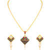 Sukkhi Trendy Gold Plated Pendant Set for Women