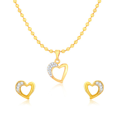 Sukkhi Elegant Gold Plated Pendant Set for Women