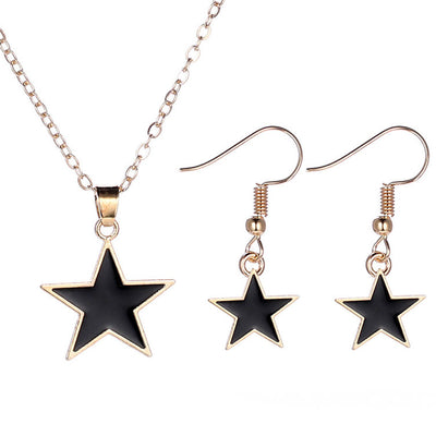 Sukkhi Exclusive Black Star Colour Stone Gold Plated Pendant Set for Women