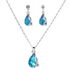 Sukkhi Intricately Crystal Colour Stone Rhodium Plated Pendant Set for Women
