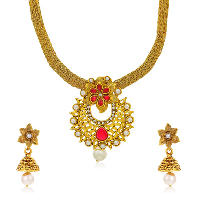 Sukkhi Exclusive Gold Plated Pendant Set for Women