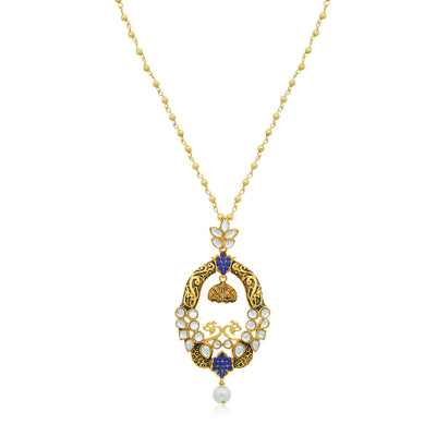 Sukkhi Spectacular Gold Plated Pendant Set for Women