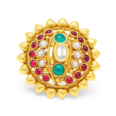 Sukkhi Brilliant Gold Plated Ring For Women-1
