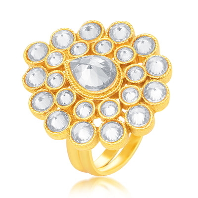 Sukkhi Sparkling Gold Plated Ring For Women