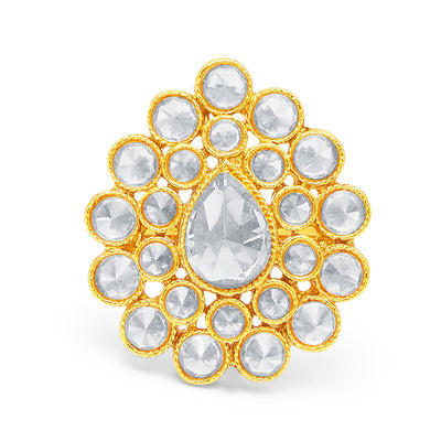 Sukkhi Sparkling Gold Plated Ring For Women-1