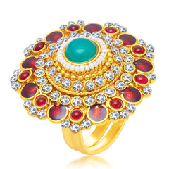 Sukkhi Gleaming Gold Plated Ring For Women