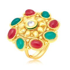 Sukkhi Artistically Gold Plated Ring For Women