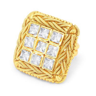 Sukkhi Excellent Gold Plated Ring For Women-1
