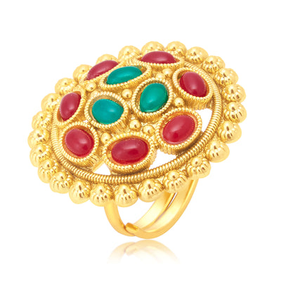 Sukkhi Angelic Gold Plated Ring For Women