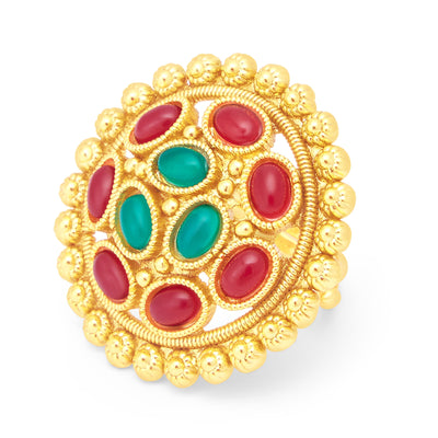Sukkhi Angelic Gold Plated Ring For Women-1