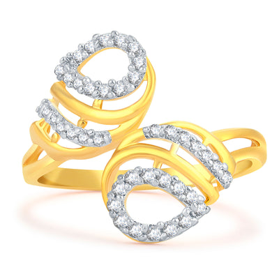 Sukkhi Alluring Gold Plated CZ Ring For Women-1