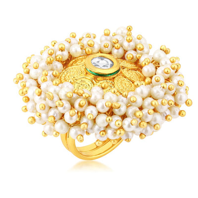 Sukkhi Ravishing Gold Plated Ring for Women