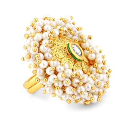 Sukkhi Ravishing Gold Plated Ring for Women - Free Size