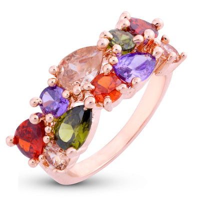 Sukkhi Modish Flowerets Vine Gold Plated Ring for women - 8