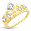 Sukkhi Dazzling Royal Crown Engagement Gold Plated Ring for women - 8