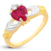 Sukkhi Attractive Elegant Cut Fire Opal Heart Gold Plated Ring for women - 8