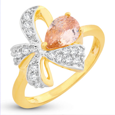 Sukkhi Delightful Bow Gold Plated Ring for women - 8