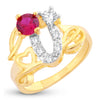 Sukkhi Sublime Love Heart Engagement Proposal Gold Plated Ring for women - 8