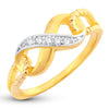 Sukkhi Glorious Infinity knot Valentine Gold Plated Ring for women - 8