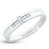 Sukkhi Elegant Cross Band Rhodium Plated Adjustable Ring for women