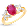 Sukkhi Exclusive Butterflies-On-Ruby Crystal Gold Plated Ring for women - 8