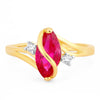 Sukkhi Attractive Olivia Man-made Opal Invisible Setting Latest Trend  Gold Plated Ring for women - 8