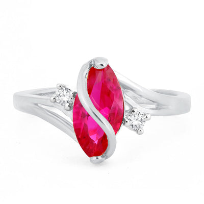 Sukkhi Olivia Man-made Opal Invisible Setting Latest Trend Rhodium Plated Ring for women - 8