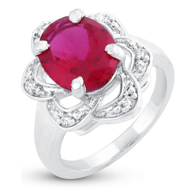 Sukkhi Appealing Floral Rhodium Plated Ring for women - 8
