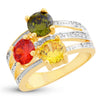 Sukkhi Classy Swiss Zircon Gold Plated Ring for women - 8