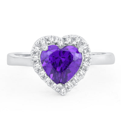 Sukkhi Adorable Queen Heart Valentine Rhodium Plated Ring for women - 8