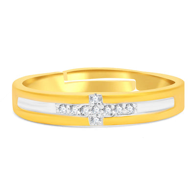 Sukkhi Modern Gold Plated Ring For Men