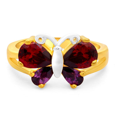 Sukkhi Mesmerizing Gold Plated Butterfly Ring For Women