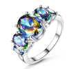 Sukkhi Shimmering Crystal Stone Rhodium Plated Ring for Women - 8