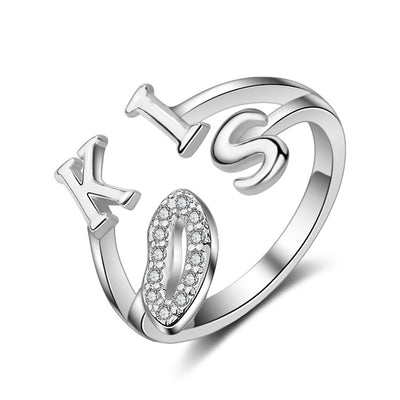 Sukkhi Glimmery Kiss Australian Diamond Rhodium Plated Ring for Women - 8