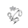 Sukkhi Sleek Floral Australian Diamond Rhodium Plated Ring for Women - 8