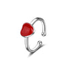 Sukkhi Marvellous Valentine Heart Colour Stone Rhodium Plated Ring for Women - 8