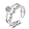Sukkhi Cubic Zirconia Rhodium Plated Ring for Women - 8
