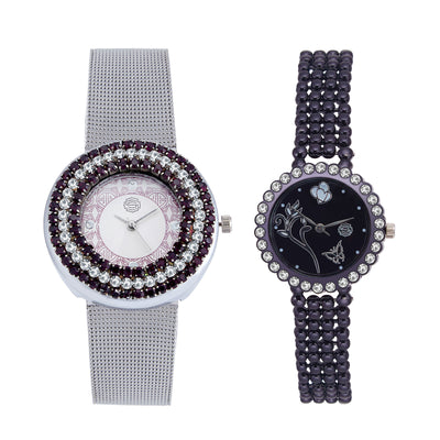 Shostopper Vintage Collection Combo Watches for Womens SJ183WCB