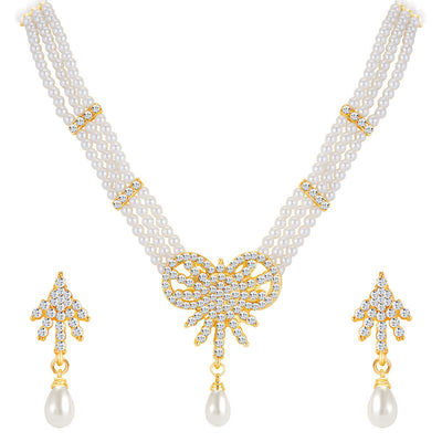 ShoStopper Charming Gold Plated Austrian Diamond Necklace Set