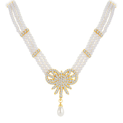 ShoStopper Charming Gold Plated Austrian Diamond Necklace Set-1