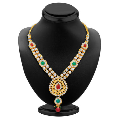 ShoStopper Royal Gold Plated Austrian Diamond Necklace Set-1