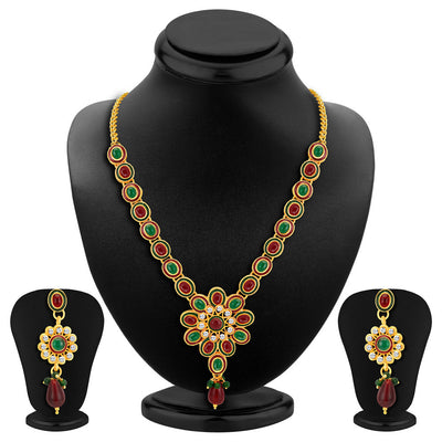 ShoStopper Fashionable Gold Plated Austrian Diamond Necklace Set