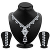 ShoStopper Enchanting Rhodium Plated Austrian Diamond Necklace Set