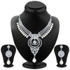 ShoStopper Pretty Rhodium Plated Austrian Diamond Necklace Set