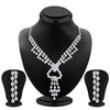 ShoStopper Fancy Rhodium Plated Austrian Diamond Necklace Set