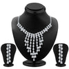 ShoStopper Glistening Rhodium Plated Austrian Diamond Necklace Set