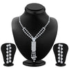 ShoStopper Intricately Rhodium Plated Austrian Diamond Necklace Set